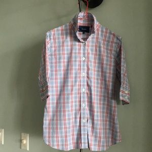 FACONNABLE SHORT-SLEEVE BUTTON DOWN